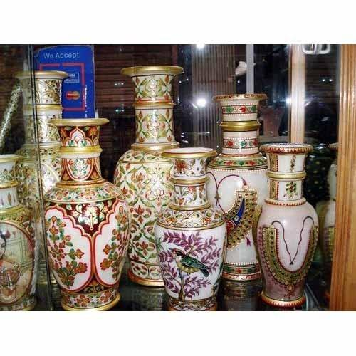 Marble Handicraft Vases Marble Stone Artifacts Kuber Art N