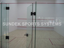 Squash Court Air Cush Wooden Flooring