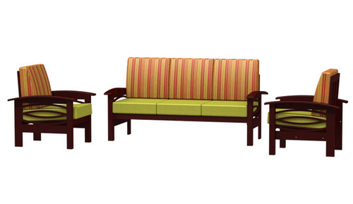 5 Seater Wood Designer Brown Sofas