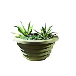 Carving Stone Green Color Planter