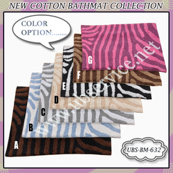 Zebra Design Bathmat