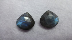 Labradorite Faceted Heart Pair