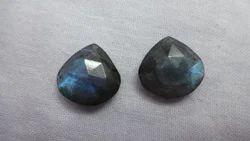 Labradorite Faceted Heart Pair