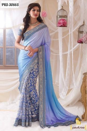 8c7dc18f5 Color Party Wear Sarees - View Specifications   Details of Designer ...