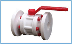 White Chemical Ball Valve