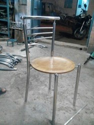 Stainless Steel Polished Mcdonals S S Dining Chair, for Restaurant