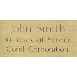 Engraving Name Plate