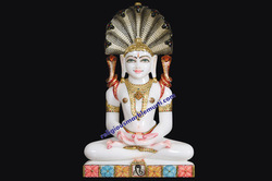 Marble Parshavnath Statue