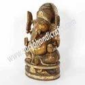Wooden Antique Finish Ganesh