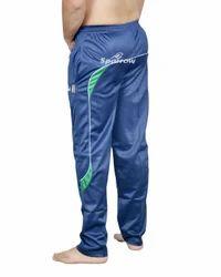 Regular Fit Full Length Track Blue Pant