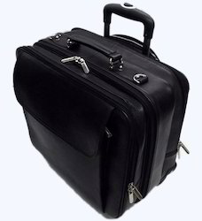 Leather Laptop Trolley Bags