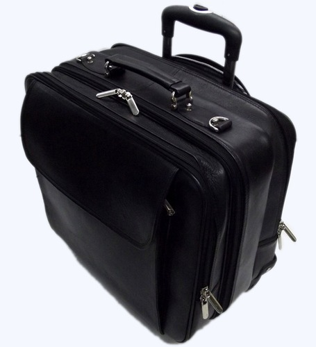 890aeab87 Black Pooja Exports Leather Laptop Trolley Bags, Rs 3350 /piece | ID ...