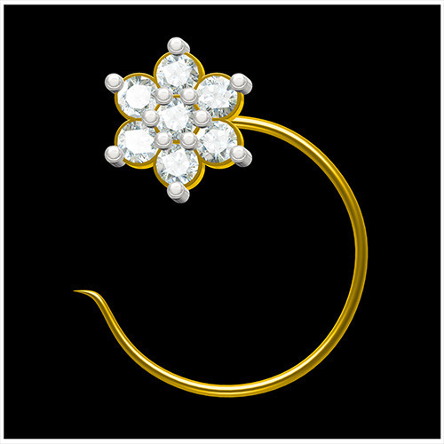 Nose Pins Gold Nose Pins Wholesale Trader from Surat