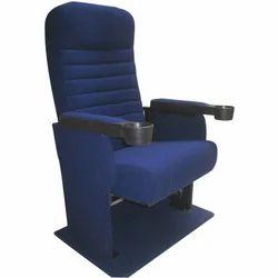Blue Push Back Auditorium Chair