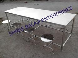SS Canteen Dining Table 8 Seater