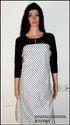 White And Black Designer Kurti