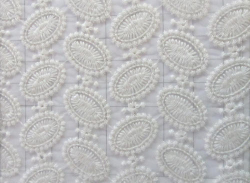 Schiffli Net Embroidery Fabric