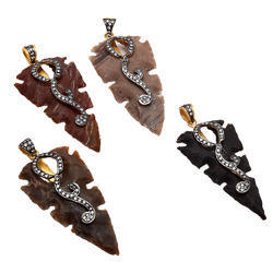 Arrowhead New Design Trends CZ Pave Set Pendant