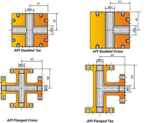 Flanged Crosses and Tees (as Per Api-6a) - Parveen Industries Pvt