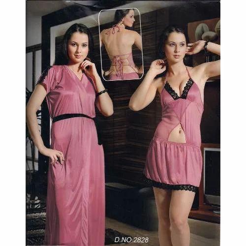 Ladies Nighty - Ladies Three Piece Fancy Nighty Manufacturer from Mumbai 59852fcae