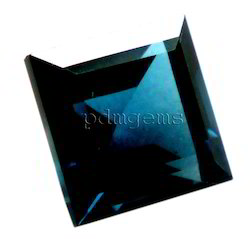 London Blue Topaz Faceted Square Gemstone