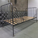 Reclaimed Iron Wood Bed Frame