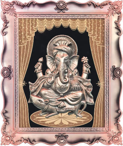 god ganesha wall frame