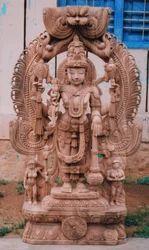 Wooden Vishnu Bhagwan KA