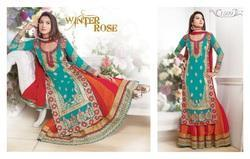 Georgette Semi-Stitched Indian Designer Suits