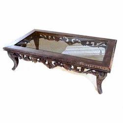 Wooden Center Table, Wooden Table | Ajmer Road, Jaipur | Katkeshwar Art |  ID: 7514810891