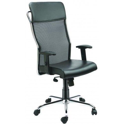 High Back Net Mesh Office Chair With Pu HeadRest Crome Finsh