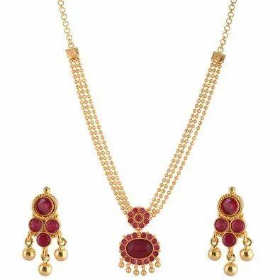 Gold plated 1 gram necklace set 1 gram necklace set ganesh gold plated 1 gram necklace set aloadofball Images