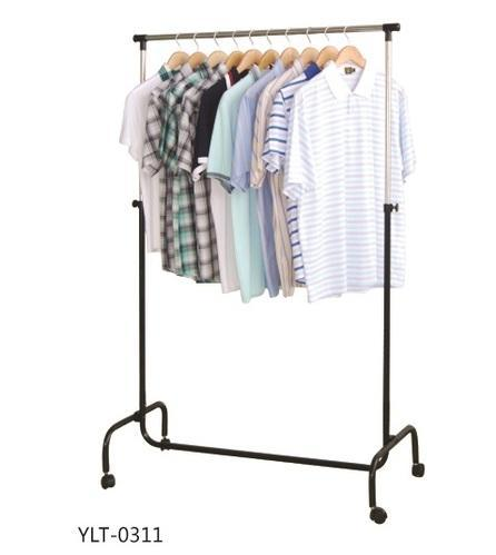 Single Pole Garment Display Rack