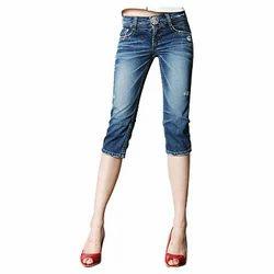 Ladies Wear - Ladies Denim Capri from Delhi