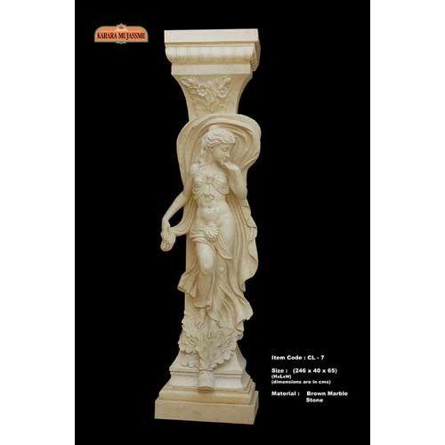 Brown Marble Columns Pillars