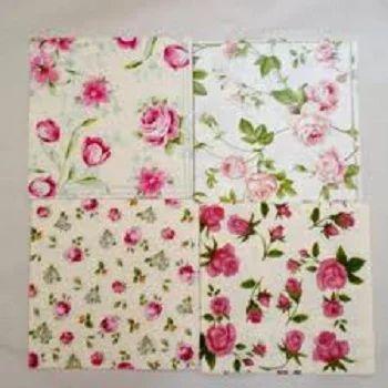 Flower Print Paper Napkins Lamasa Jasonkellyphoto Co