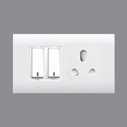 Alex Plastic Switches With Socket, 240 V