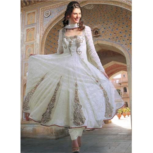 4bfd2bfb418 Pristine Off White Net Salwar Suit - Ruhani All Seasons