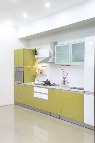 I Shape Modular Kitchen
