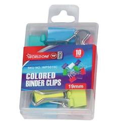 Binder Clip (19mm) Packed In Multi Color Packet