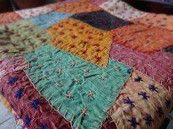 Multi Color Patch Work Bedspread