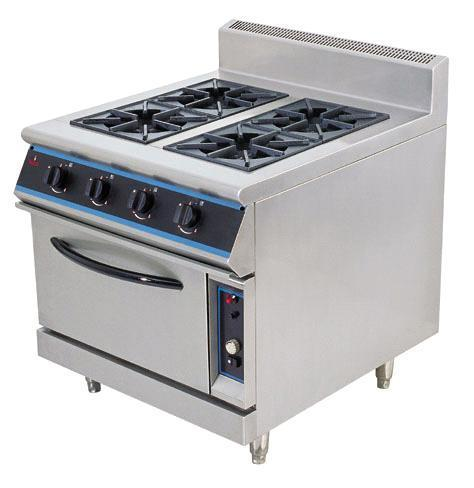 669afa7a0 Stainless Steel Electric 4 Burner Range With Pizza Oven