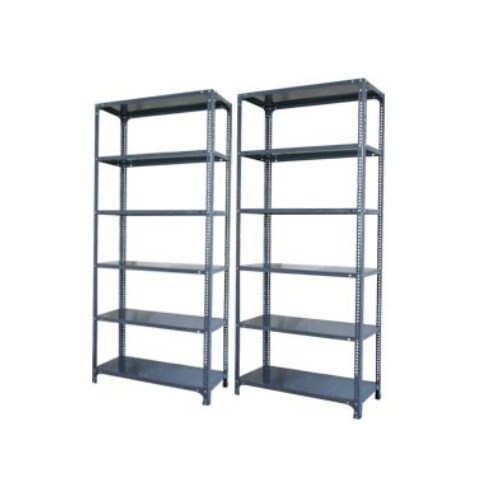 Dark Grey Stainless Steel Slotted Angle Rack Usage