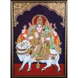 Sivan Parvathi Tanjore Painting