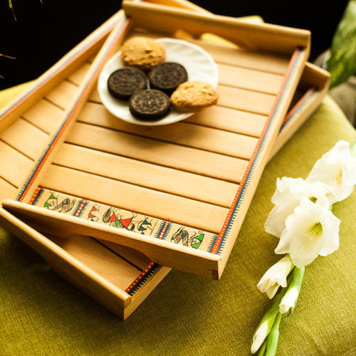 2d169016a541 Handcrafted Wooden Serving Tray at Rs 1408 /piece(s) | Sector 2 ...