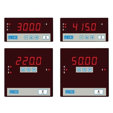 3 Phase Programmable V & A Meters