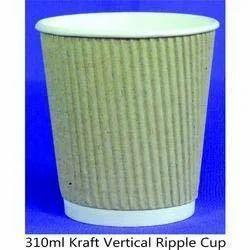 310ml Kraft Vertical Ripple Cup
