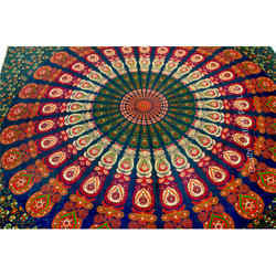 Tapestry mandala wall hanging Bed Sheets