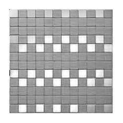 Stainless Steel Textured Mosaic Tile
