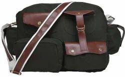 Flapper Olive Leather Portfolio Bag